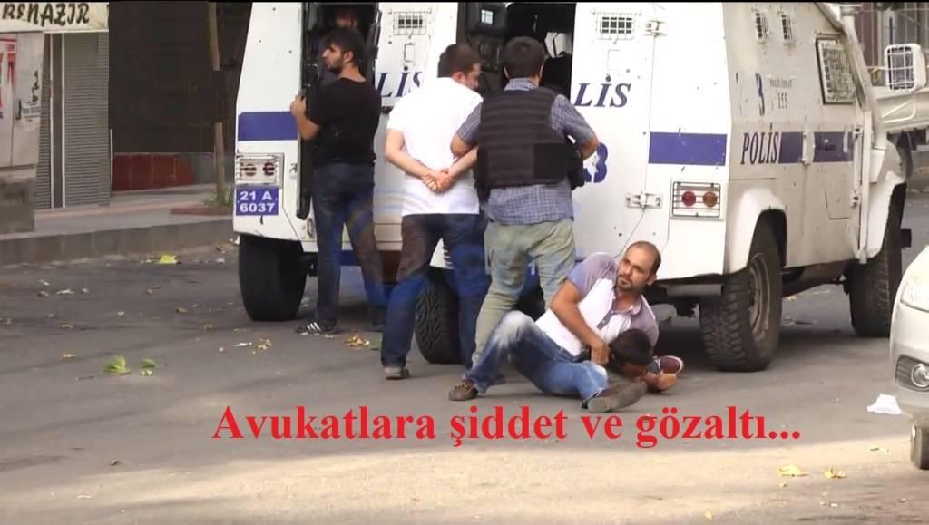 Avukatlara şiddet ve gözaltına kınama.