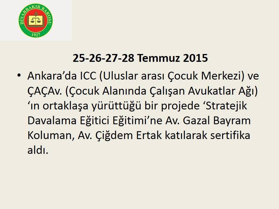 ÇAÇav ve ICC Ortaklaşa Düzenlediği seminere katıldık.