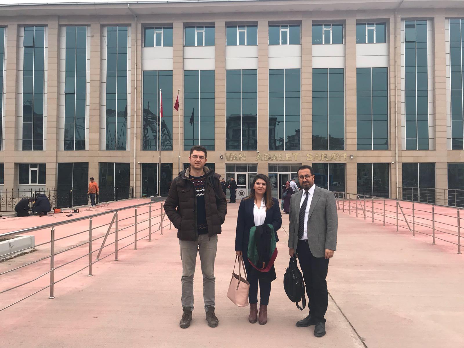 Çocuk Hakları Merkezimiz Afgan mülteci Lütfillah Tacik'in davası için Van'daydı.