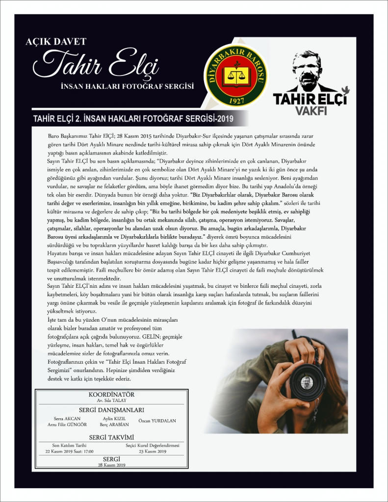 Tahir ELÇİ 2. İnsan Hakları Fotoğraf Sergisi