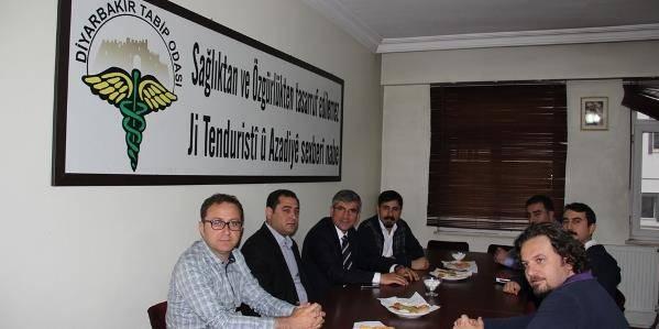 Diyarbakır Tabip Odasına tebrik ziyareti