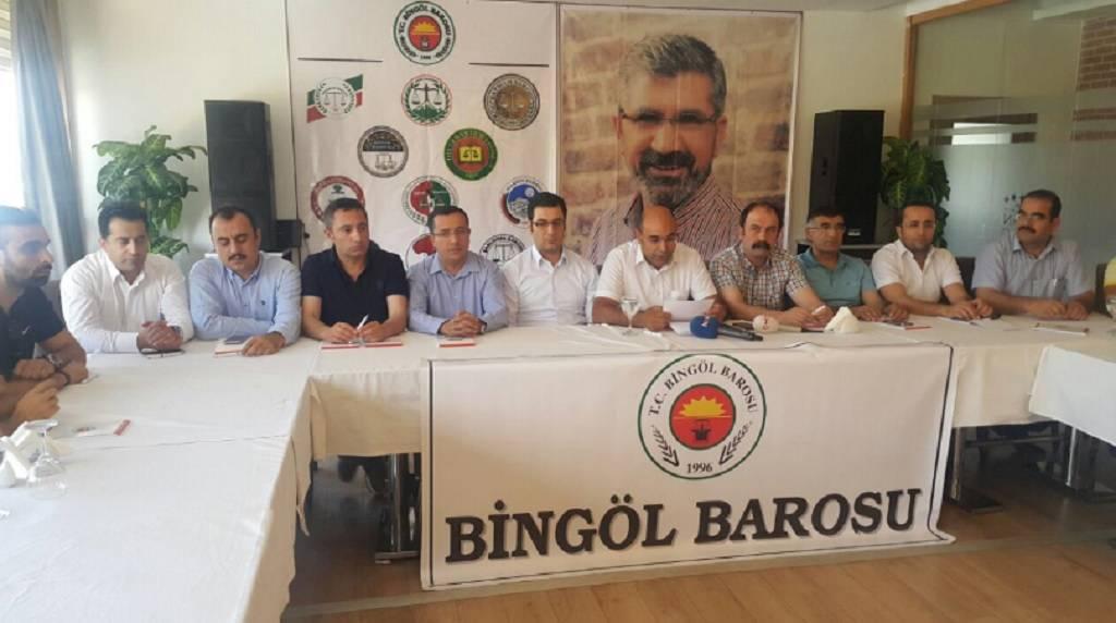 Doğu ve G.Doğu Bölge Baroları Bingöl toplantısı sonuç bildirgesi açıklandı
